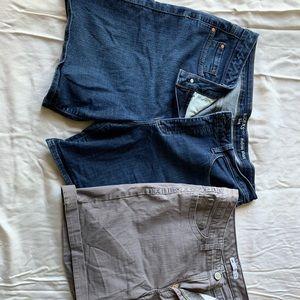 2 pair of lee shorts.